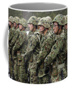 Soldiers From The Japan Ground Self Coffee Mug by Stocktrek Images