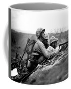 Soldiers Locate Enemy Position On A Map Coffee Mug