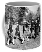 Soldiers March Black And White IIi Coffee Mug