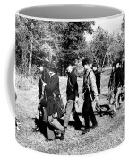 Soldiers March Black And White Coffee Mug
