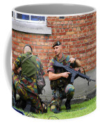 Soldiers Of The Belgian Army Helping Coffee Mug
