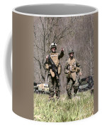 Soldiers Perform A Site Survey In Camp Coffee Mug