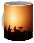 Soldiers Set Up A Security Outpost Coffee Mug
