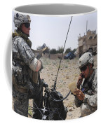 Soldiers Setting Up A Satellite Coffee Mug