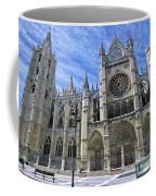 South Facade Of Leon White Gothic Coffee Mug