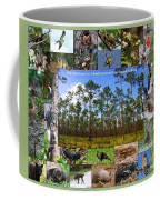 Southeastern Pine Forest Wildlife Poster Coffee Mug