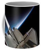 Space Shuttle Endeavour Backdropped Coffee Mug