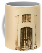 Spanish Fort Door Castillo San Felipe Del Morro San Juan Puerto Rico Prints Rustic Coffee Mug by Shawn O'Brien