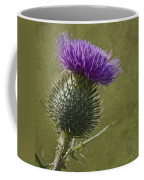 Spear Thistle With Texture Coffee Mug