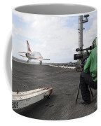 Specialist Records Video Of Flight Deck Coffee Mug