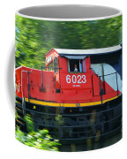 Speeding Cn Train Coffee Mug