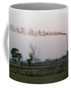 Spewing Smoke And Pollution Into A Green Rural Environment Coffee Mug