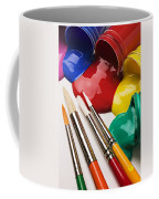 Spilt Paint And Brushes  Coffee Mug