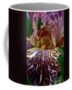 Splashed Iris Coffee Mug