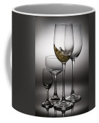 Splashing Wine In Wine Glasses Coffee Mug