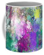 Splattered Colors Abstract Coffee Mug