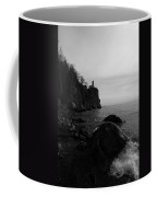 Split Rock Lighthouse  Black-and-white Coffee Mug