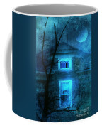 Spooky House With Moon Coffee Mug by Jill Battaglia