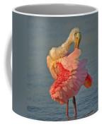 Spoonbill Preening Coffee Mug
