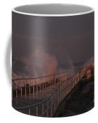 Spray In Evening Light Coffee Mug