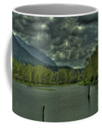 Spring Clouds At The Nicomen Slough Coffee Mug