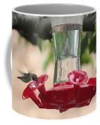 Spring Hummingbird At Feeder Coffee Mug