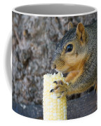 Squirrel Holding Corn Coffee Mug