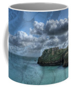 St Catherines Rock Tenby With A Shell Texture Coffee Mug