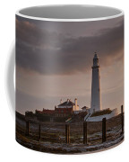 St Marys Lighthouse After Sunrise Coffee Mug