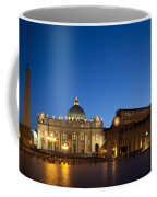 St. Peter's Basilica At Night Coffee Mug