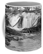 St Vrain River Waterfall Slow Flow Bw Coffee Mug
