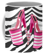 Stack 'em High Pink Platforms On Zebra Coffee Mug