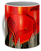 Stacked Chairs Coffee Mug by Carlos Caetano