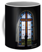 Stained Glass Cross Window Of Hope Coffee Mug