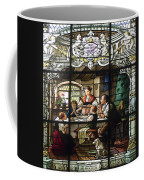Stained Glass Family Giving Thanks Coffee Mug