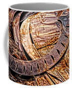 Stainless And Rust Abstract Coffee Mug