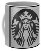 Starbuck The Mermaid In Black And White Coffee Mug