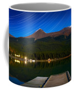 Starry Night Of Mountains And Lake Coffee Mug
