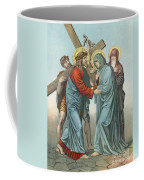 Station Iv Jesus Carrying The Cross Meets His Most Afflicted Mother Coffee Mug
