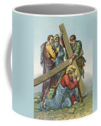 Station Vii Jesus Falls Under The Cross The Second Time Coffee Mug