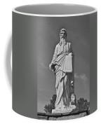 Statue 01 Black And White Coffee Mug