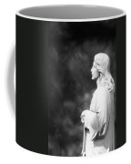 Statue 06 Black And White Coffee Mug