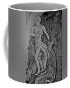 Statue 17 Black And White Coffee Mug