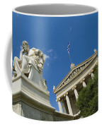 Statue Of Socrates In Front Coffee Mug by Richard Nowitz
