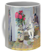 Statuette By Maillol And Red Roses Coffee Mug