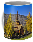Stave Church In Lom Coffee Mug