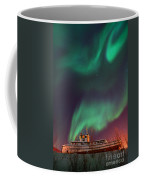 Steamboat Under Northern Lights Coffee Mug by Priska Wettstein