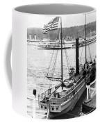 Steamer In The Hudson River - New York - 1909 Coffee Mug
