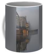 Steel Bridge In Fog - Vertical Coffee Mug