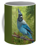 Stellar Jay Coffee Mug by Dee Carpenter